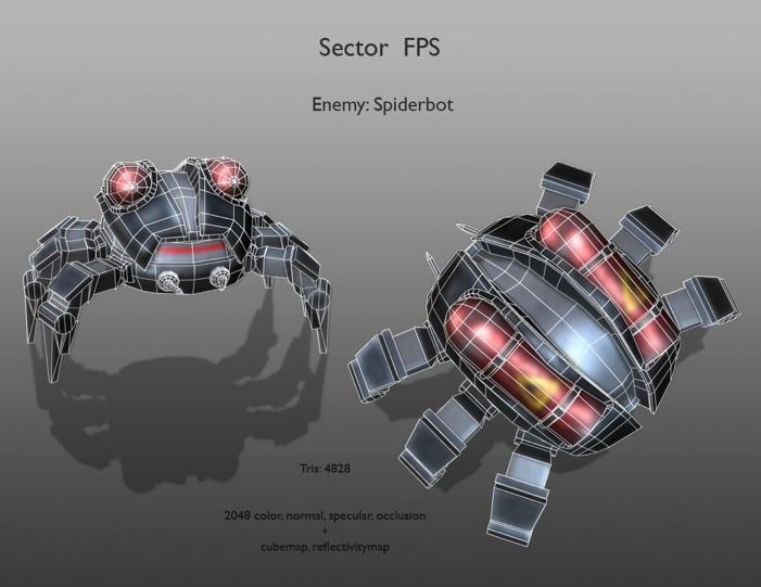 Spiderbot_Wireframe